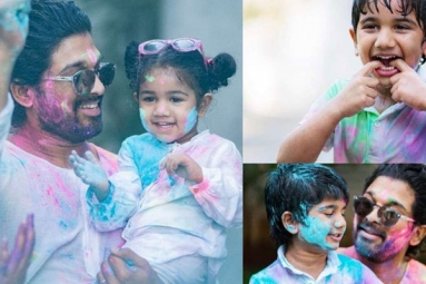 In Pics: Allu Arjun's Adorable Moments with Family for Holi Is Too Cute to Miss