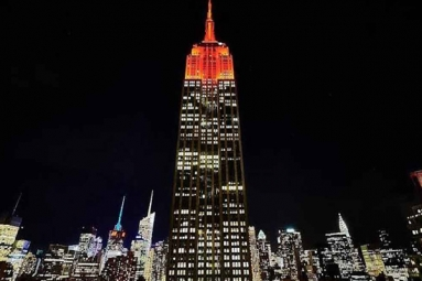 Empire State Building Lit Up To Honour The Festival of Lights