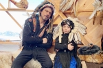 Shah Rukh Khan and His Son AbRam Trolled for Sporting Native American War Bonnets